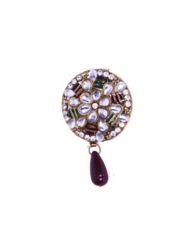 Contemporary Dust Pink Floral Stone Studded 'Brooch
